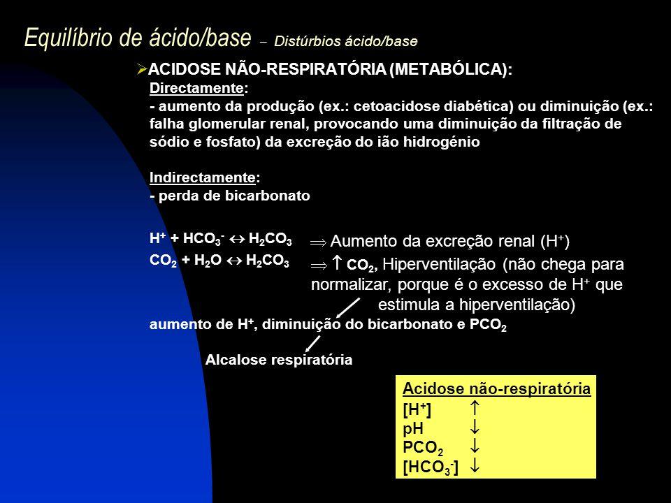 Equilíbrio de ácido/base – Distúrbios ácido/base