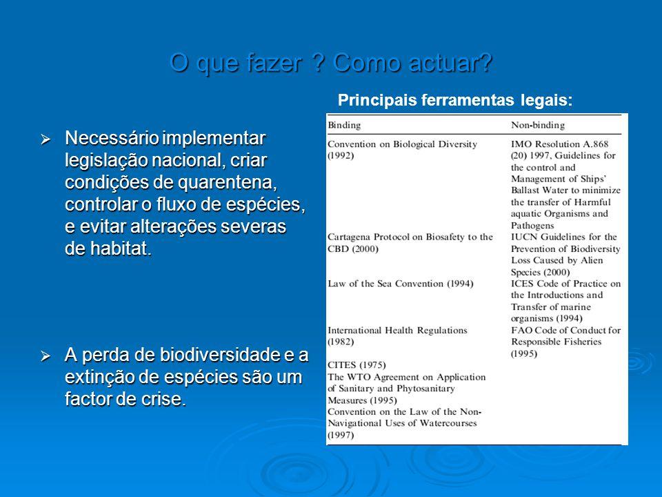 O que fazer Como actuar Principais ferramentas legais: