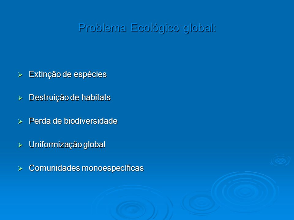 Problema Ecológico global: