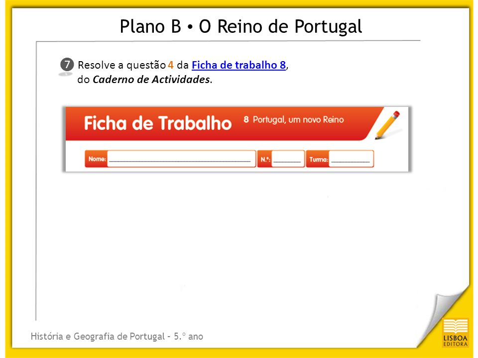 Plano B • O Reino de Portugal