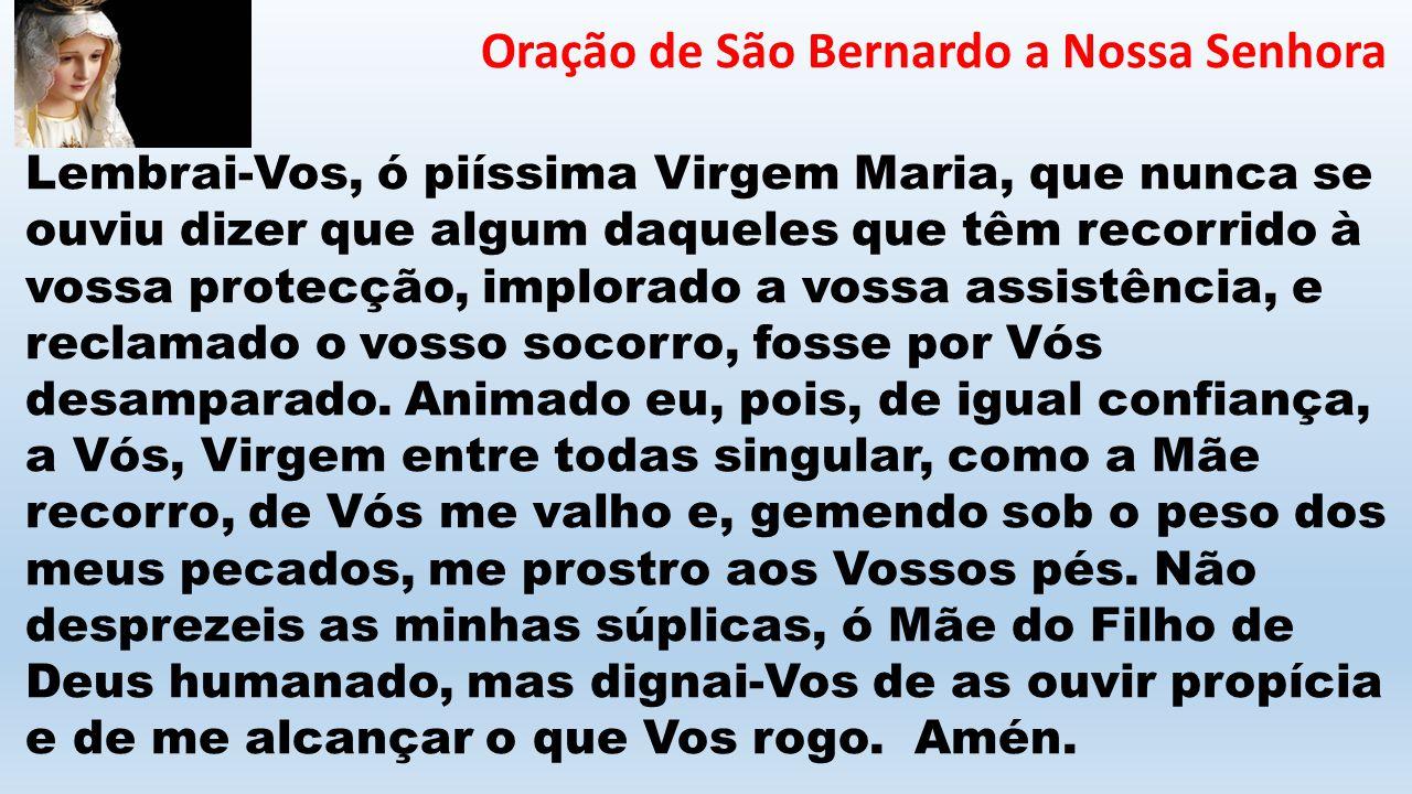 Oração de São Bernardo a Nossa Senhora