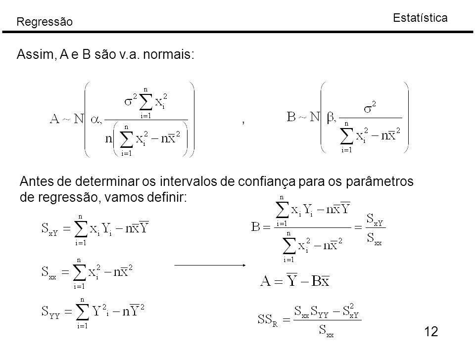 Assim, A e B são v.a. normais: