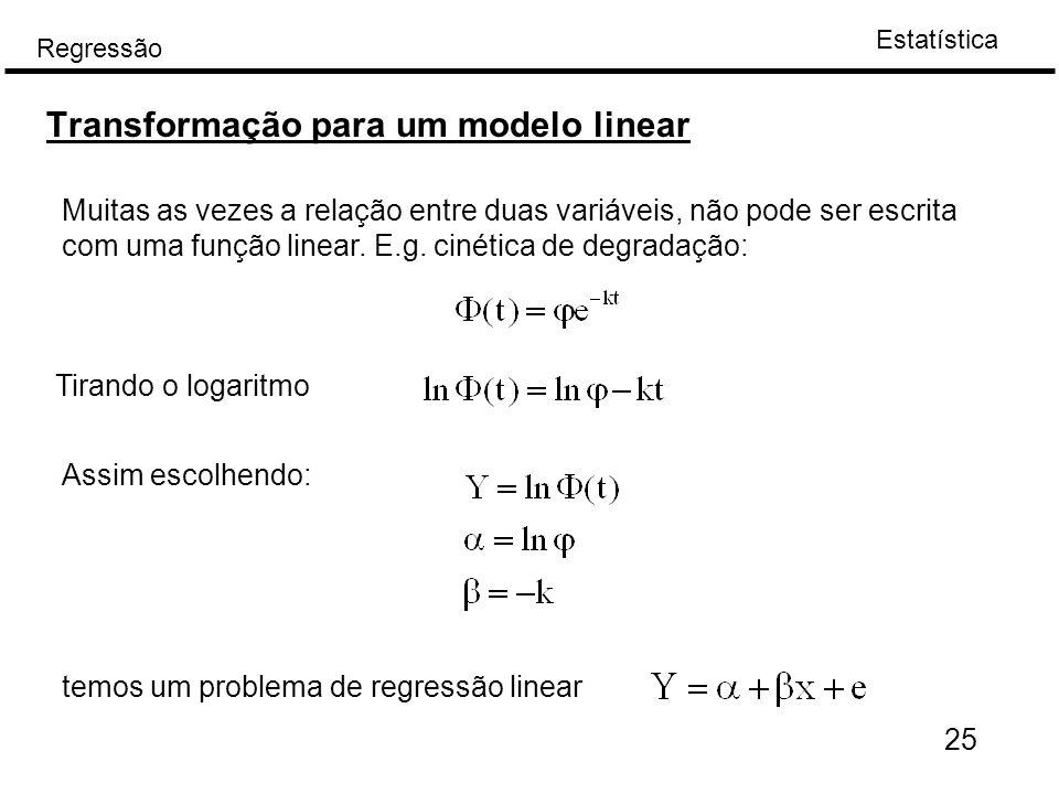 Transformação para um modelo linear