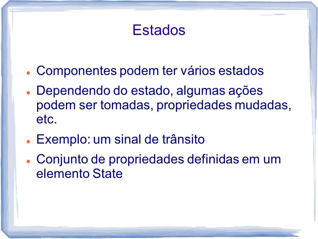Estados Componentes podem ter vários estados