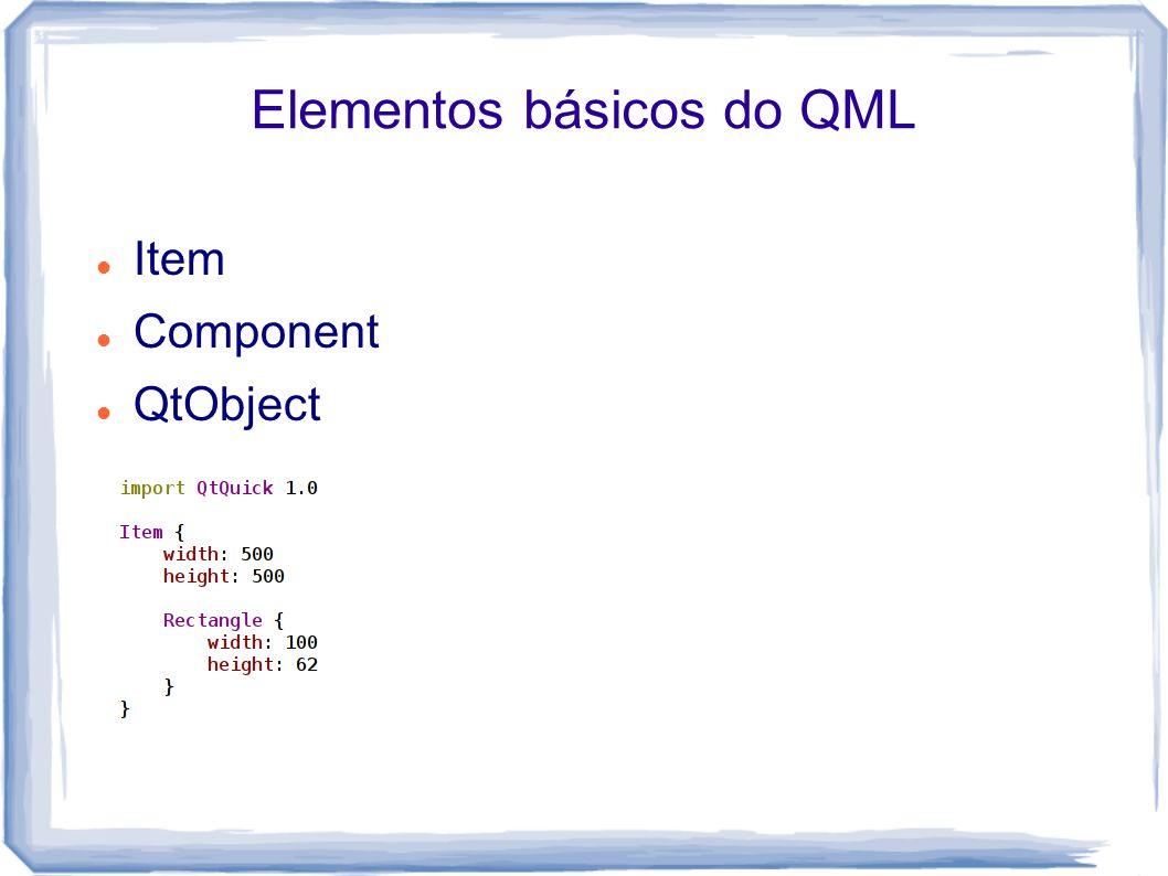 Elementos básicos do QML