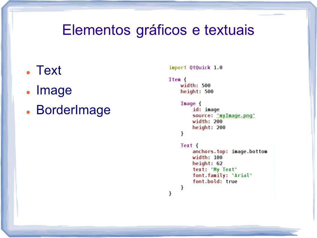 Elementos gráficos e textuais