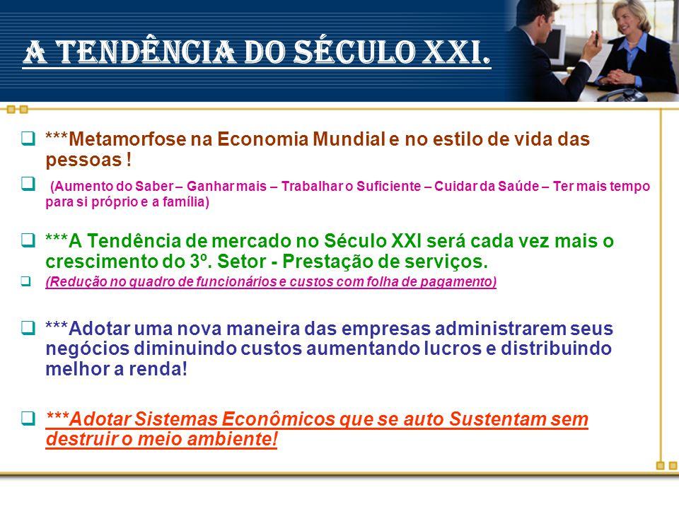 A TENDÊNCIA DO SÉCULO XXI.