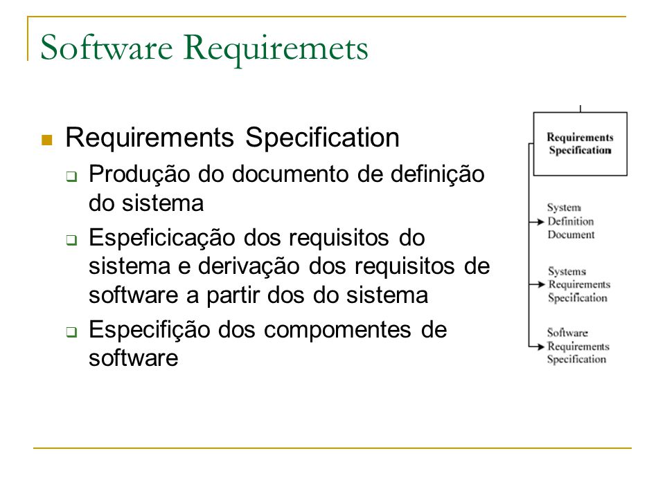 Software Requiremets Requirements Specification