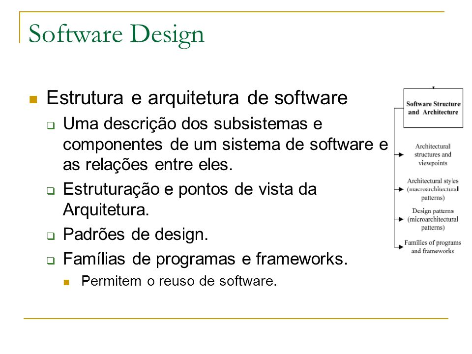 Software Design Estrutura e arquitetura de software