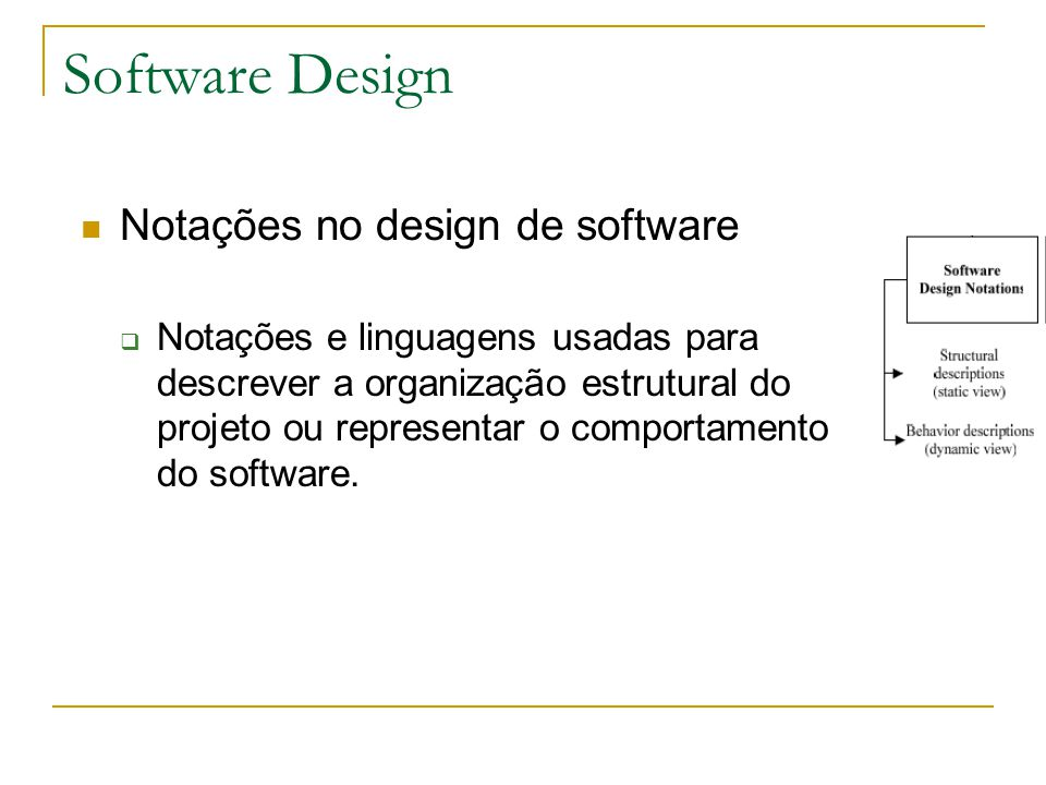 Software Design Notações no design de software