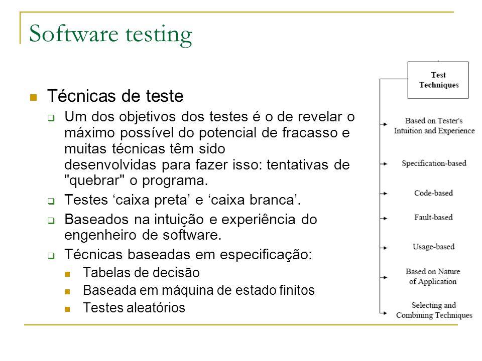 Software testing Técnicas de teste