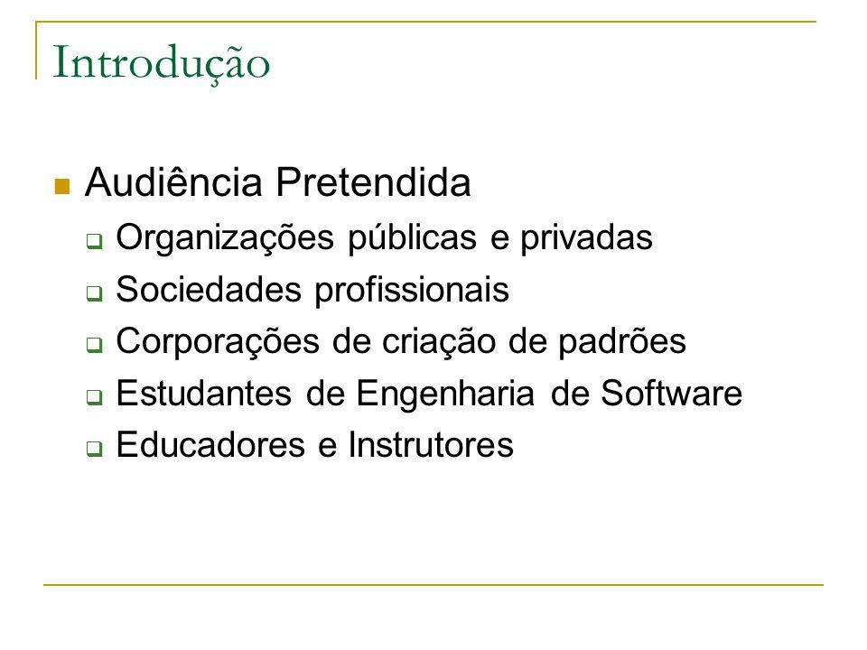 Introdução Audiência Pretendida Organizações públicas e privadas