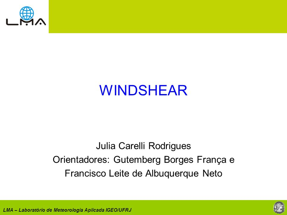 WINDSHEAR Julia Carelli Rodrigues