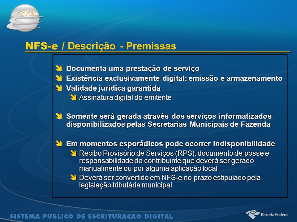NFS-e / Descrição - Premissas