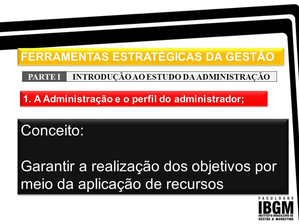 INTRODUÇÃO AO ESTUDO DA ADMINISTRAÇÃO