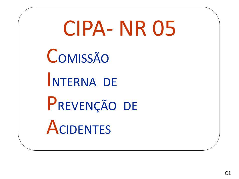 CIPA- NR 05 COMISSÃO INTERNA DE PREVENÇÃO DE ACIDENTES C1