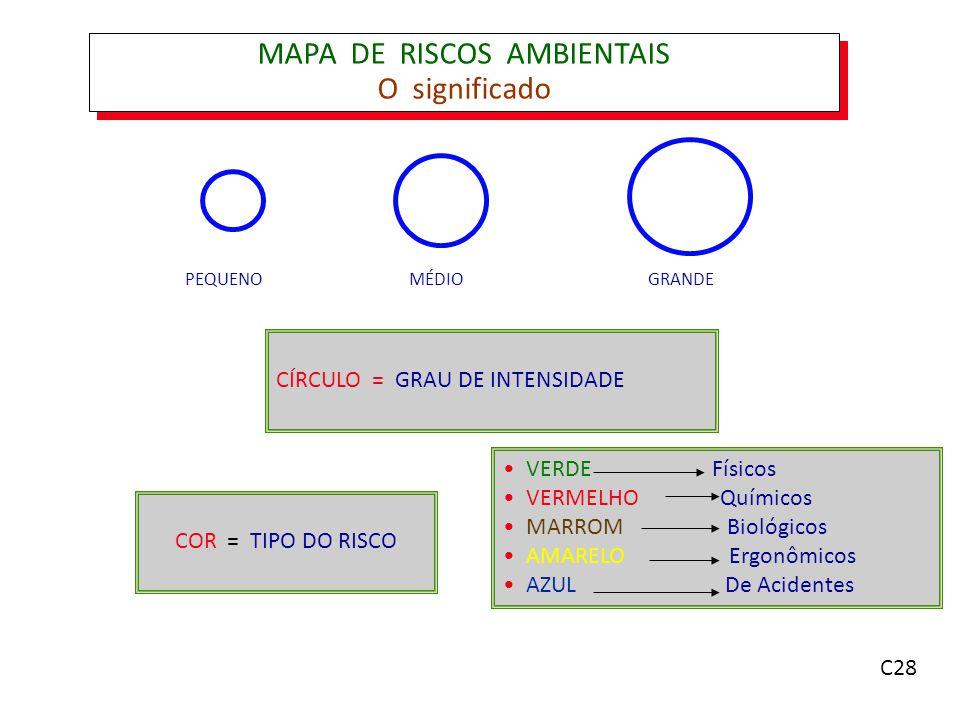 MAPA DE RISCOS AMBIENTAIS O significado