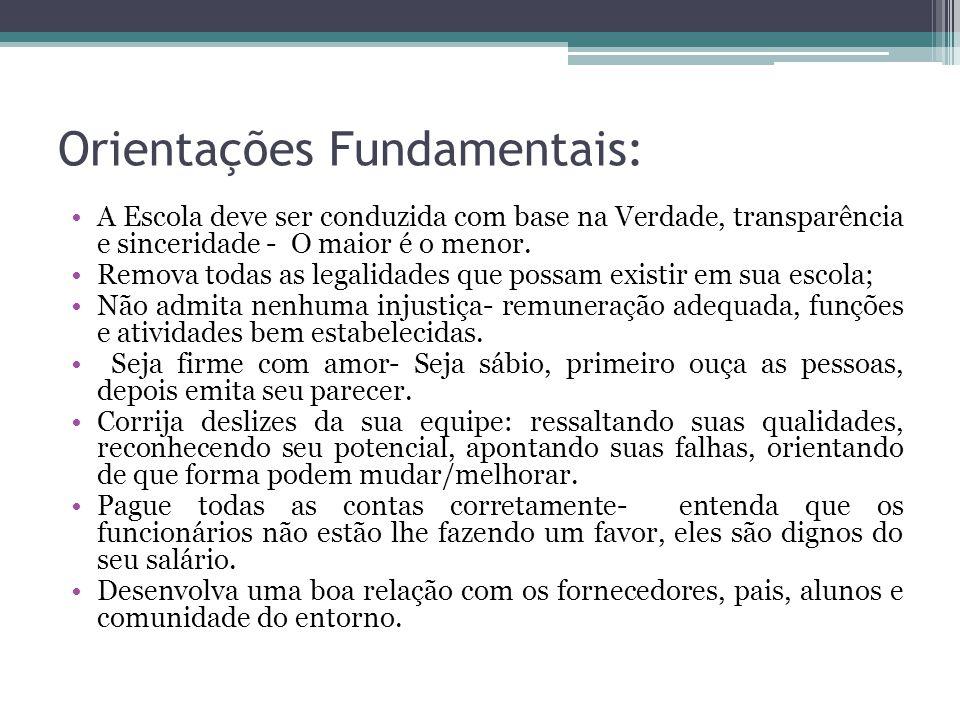Orientações Fundamentais:
