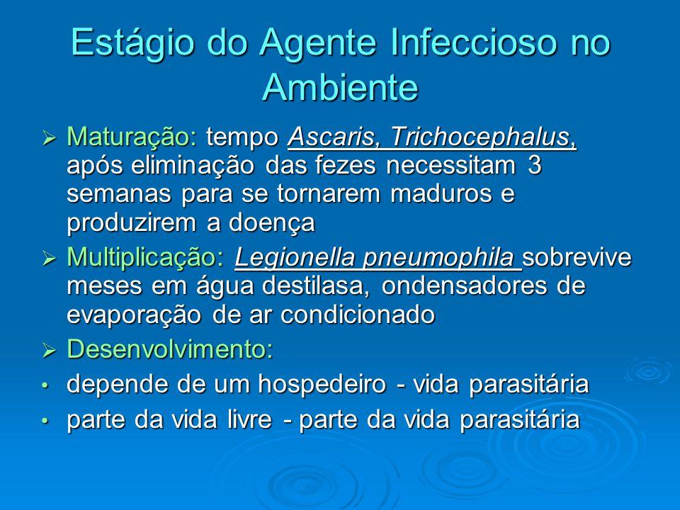Estágio do Agente Infeccioso no Ambiente