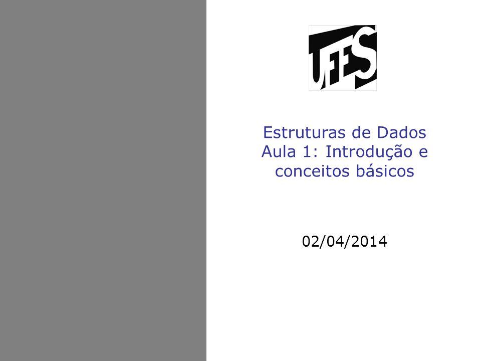 Estruturas de Dados Aula 1: Introdução e conceitos básicos
