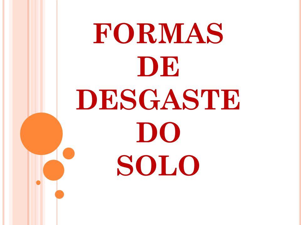 FORMAS DE DESGASTE DO SOLO