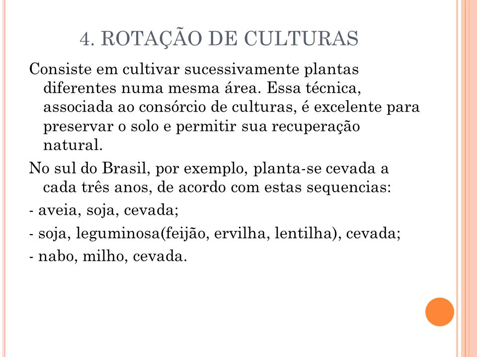 4. ROTAÇÃO DE CULTURAS