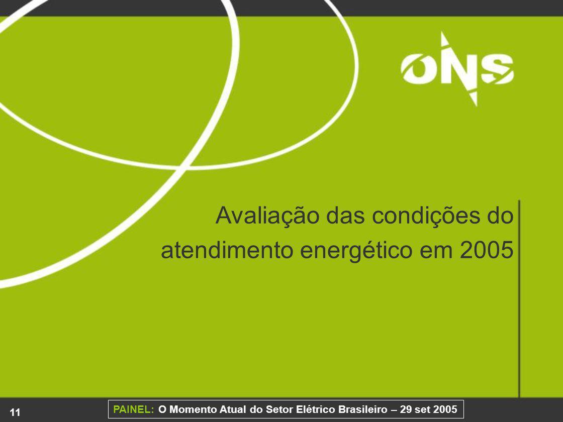 Avaliação das condições do atendimento energético em 2005