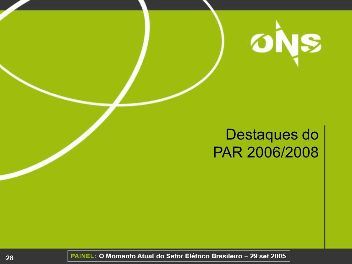 Destaques do PAR 2006/2008