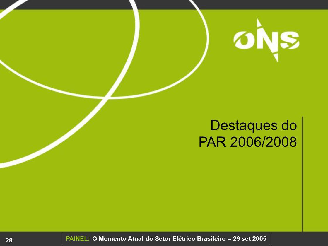 Destaques do PAR 2006/2008