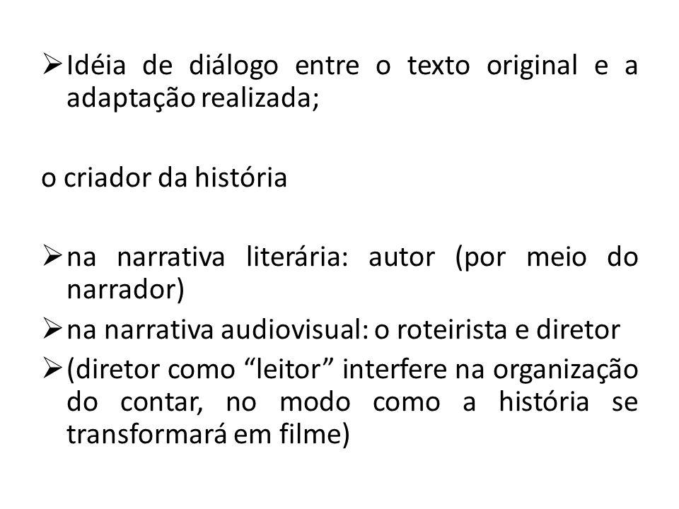 Idéia de diálogo entre o texto original e a adaptação realizada;