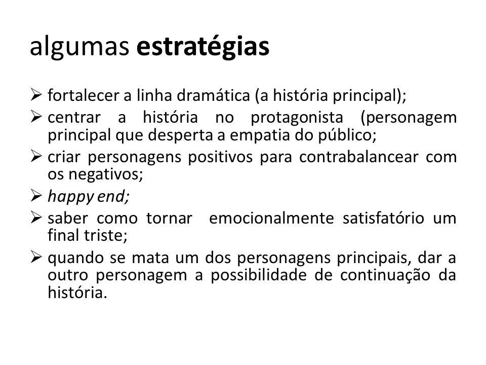 algumas estratégias fortalecer a linha dramática (a história principal);
