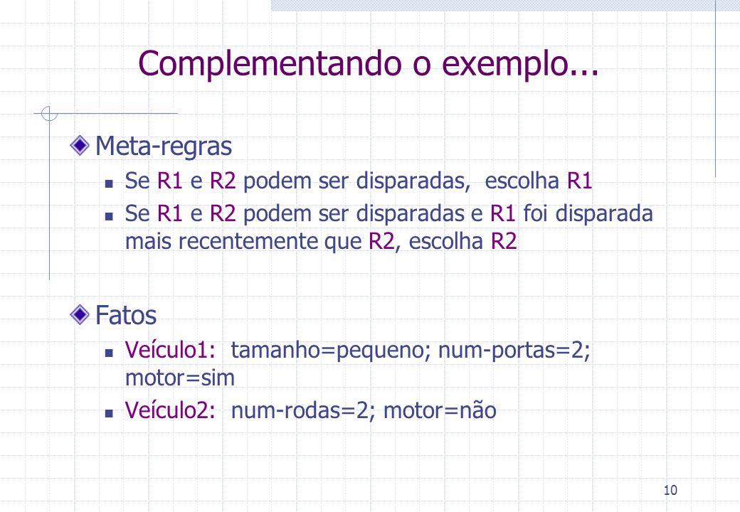 Complementando o exemplo...
