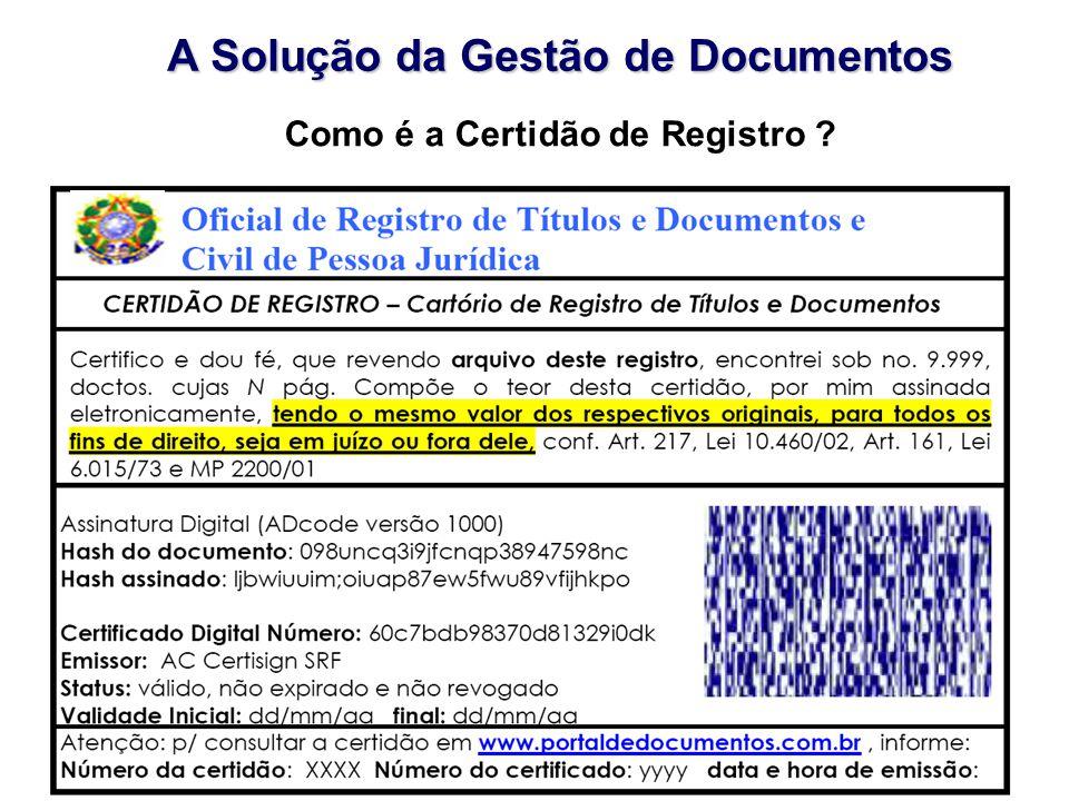 A Solução da Gestão de Documentos Como é a Certidão de Registro