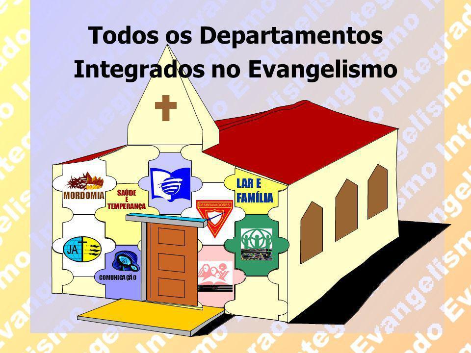 Todos os Departamentos Integrados no Evangelismo