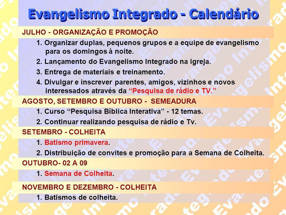 Evangelismo Integrado - Calendário