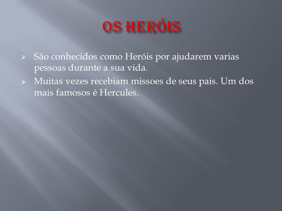 OS HERóIS São conhecidos como Heróis por ajudarem varias pessoas durante a sua vida.