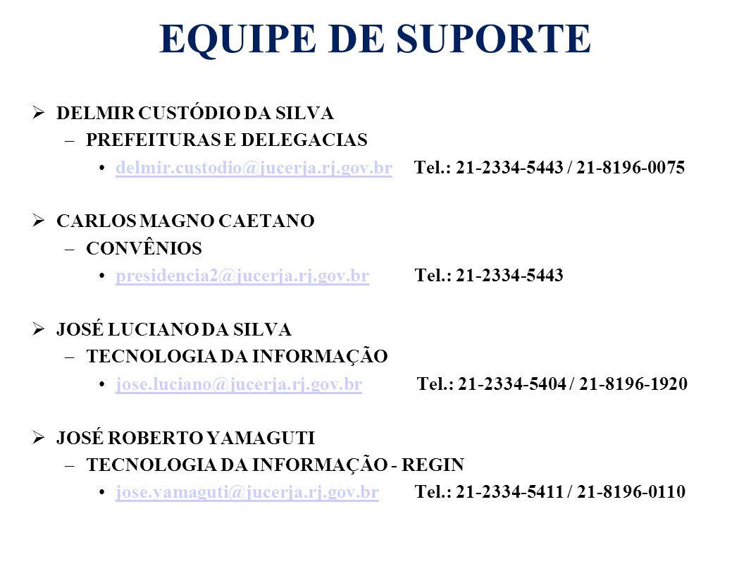EQUIPE DE SUPORTE DELMIR CUSTÓDIO DA SILVA PREFEITURAS E DELEGACIAS