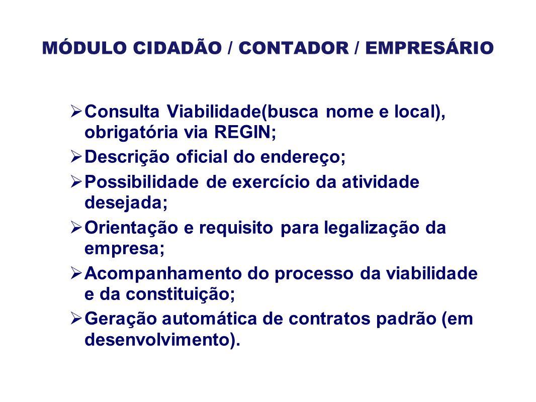MÓDULO CIDADÃO / CONTADOR / EMPRESÁRIO