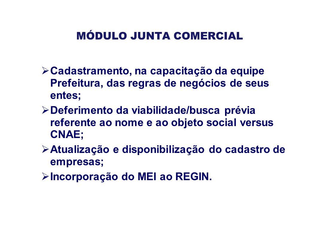 MÓDULO JUNTA COMERCIAL