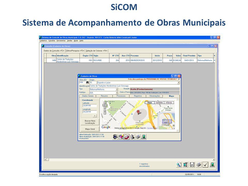 SiCOM Sistema de Acompanhamento de Obras Municipais
