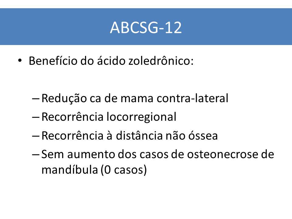 ABCSG-12 Benefício do ácido zoledrônico: