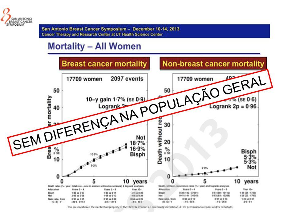 SEM DIFERENÇA NA POPULAÇÃO GERAL