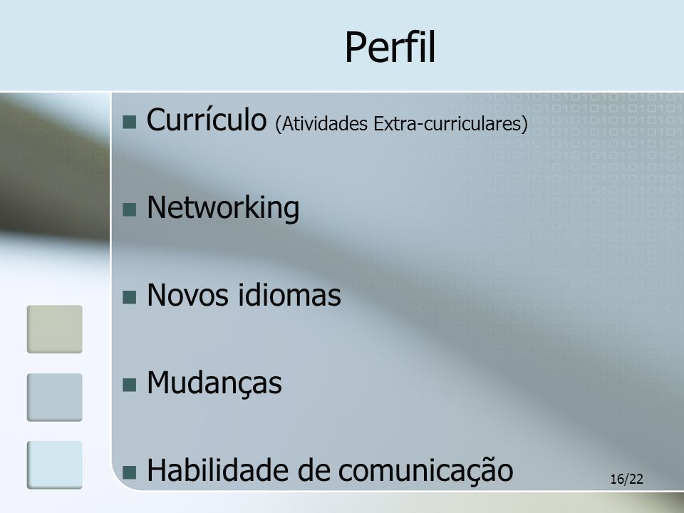 Perfil Currículo (Atividades Extra-curriculares) Networking
