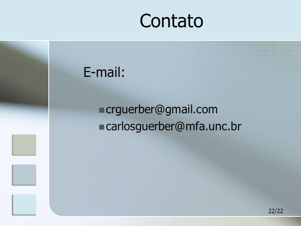 Contato E-mail: crguerber@gmail.com carlosguerber@mfa.unc.br
