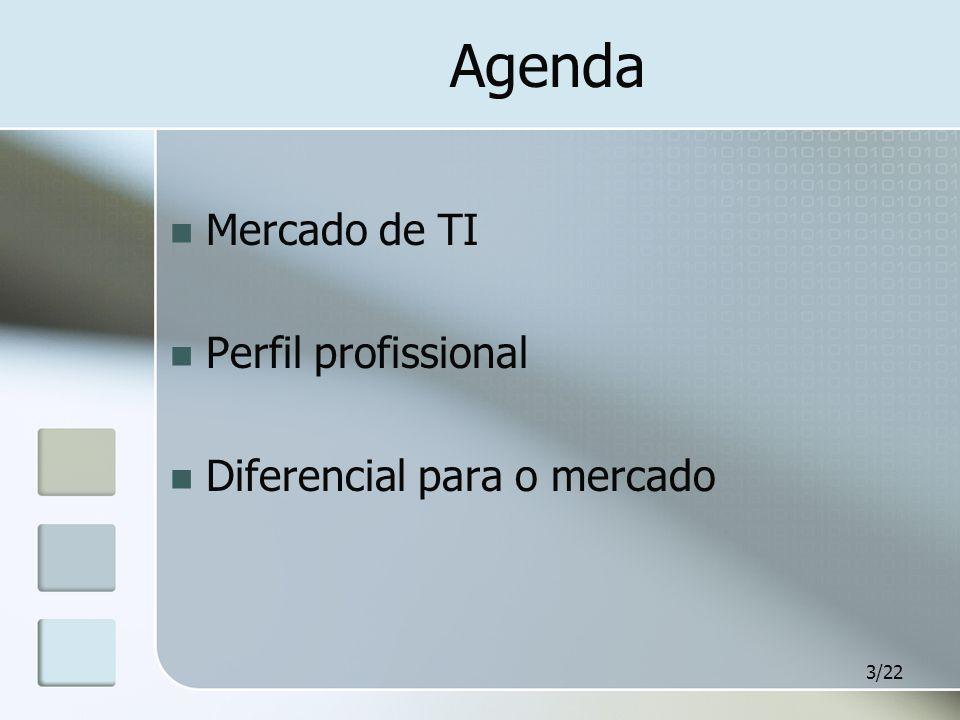 Agenda Mercado de TI Perfil profissional Diferencial para o mercado