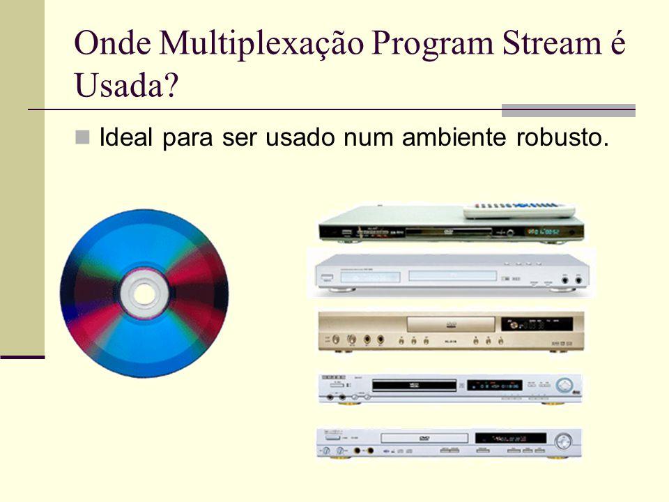Onde Multiplexação Program Stream é Usada