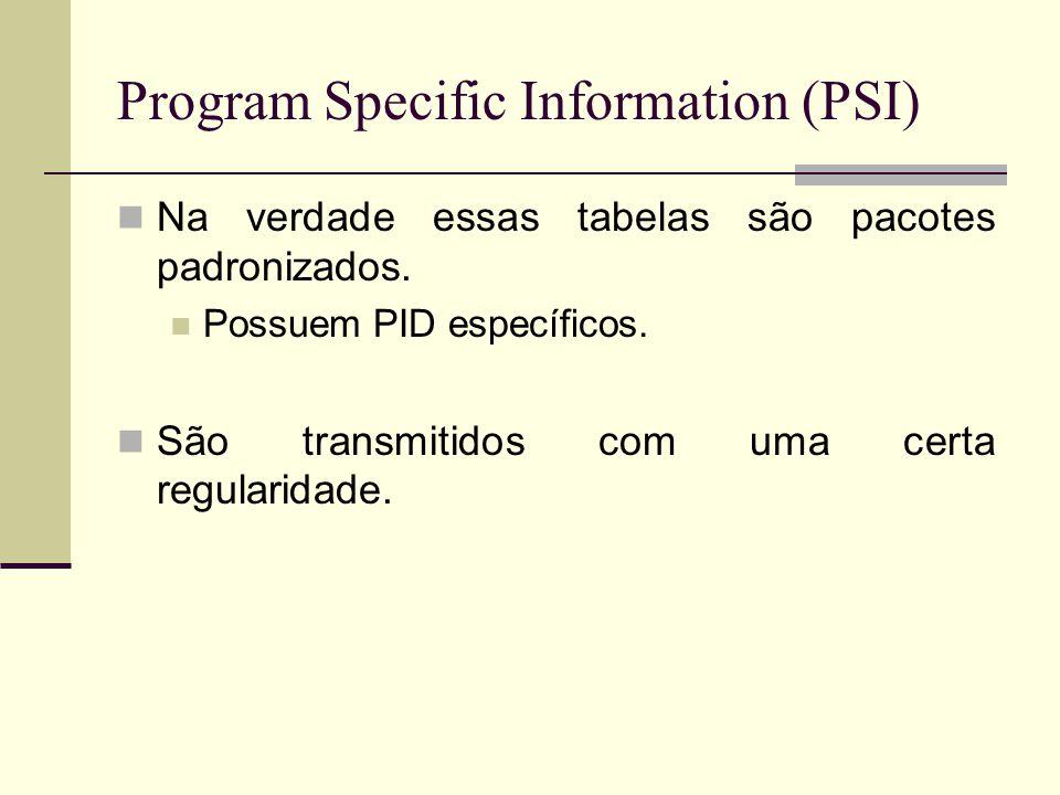 Program Specific Information (PSI)