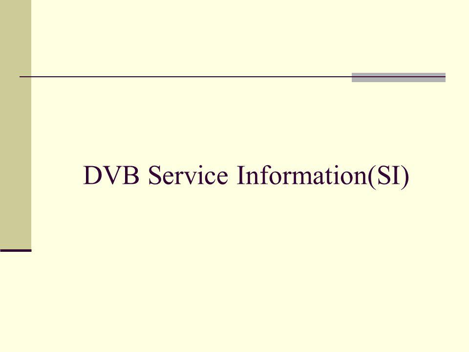 DVB Service Information(SI)