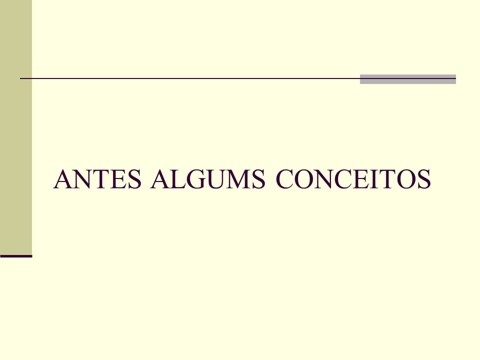 ANTES ALGUMS CONCEITOS
