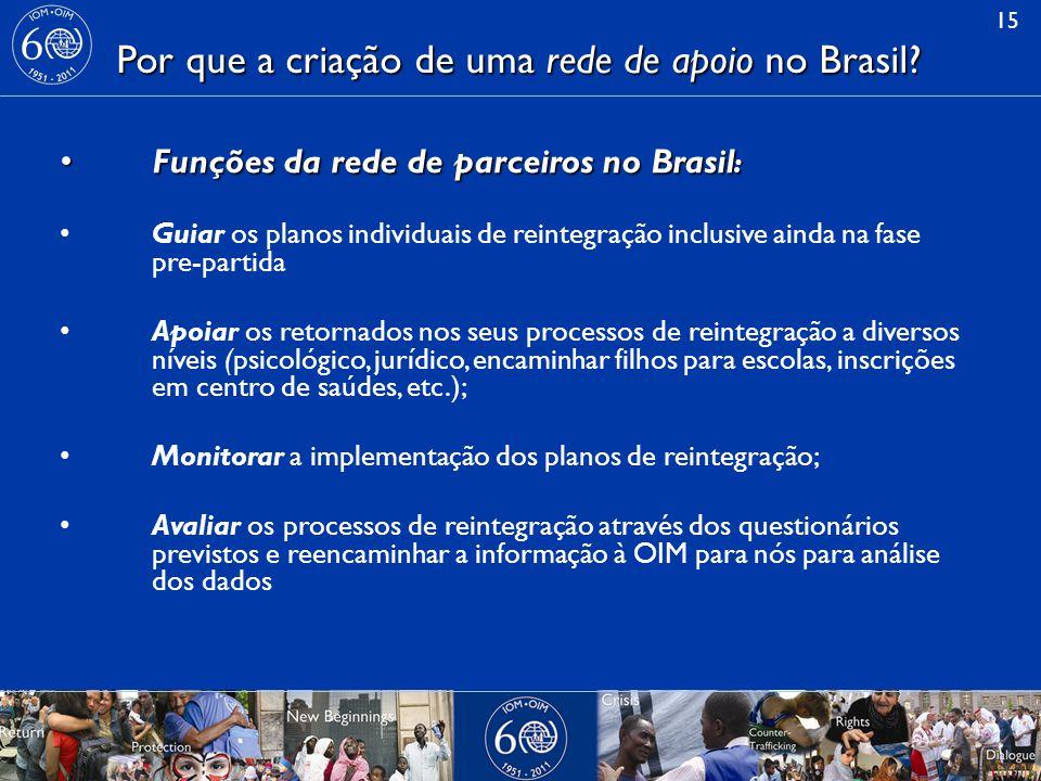 Por que a criação de uma rede de apoio no Brasil